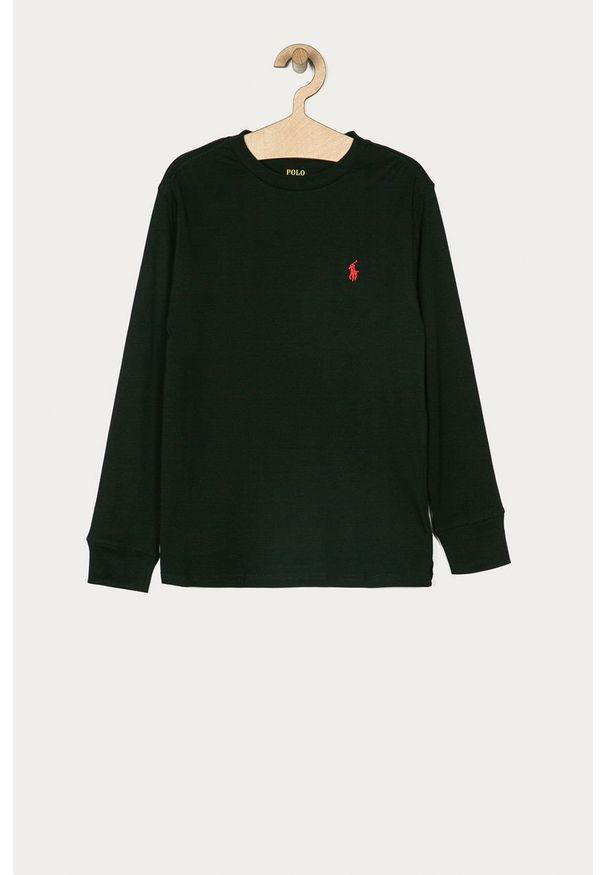 Czarna koszulka z długim rękawem Polo Ralph Lauren polo, casualowa
