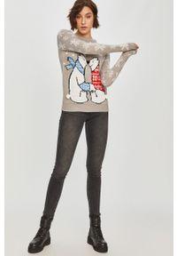 Answear Lab - Sweter. Okazja: na co dzień. Kolor: szary. Długość rękawa: długi rękaw. Długość: długie. Styl: wakacyjny