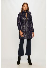 Fioletowa kurtka Trussardi Jeans na co dzień, casualowa, z kapturem