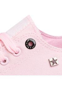Różowe trampki Big-Star na co dzień, z cholewką