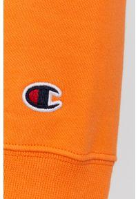 Champion - Bluza bawełniana. Okazja: na co dzień. Typ kołnierza: kaptur. Kolor: pomarańczowy. Materiał: bawełna. Wzór: aplikacja. Styl: casual