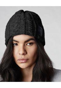 CANADA GOOSE - Czarna wełniana czapka Chunky. Kolor: czarny. Materiał: wełna. Wzór: ze splotem. Sezon: zima