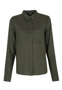 Brązowa koszula TOP SECRET w kolorowe wzory, elegancka, z klasycznym kołnierzykiem