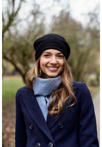 Marie Zélie - Płaszcz wełniany Debora granatowy – flausz. Kolor: niebieski. Materiał: wełna. Wzór: motyw zwierzęcy. Sezon: zima. Styl: klasyczny #2