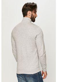 Szara bluza rozpinana Tom Tailor z nadrukiem, na co dzień, bez kaptura