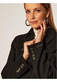 Czarny płaszcz przejściowy Sportmax Code