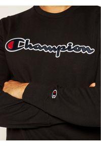 Champion Bluza Satin Script Logo 214188 Czarny Comfort Fit. Kolor: czarny
