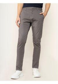 Hugo Spodnie materiałowe Gler.194D 50426786 Szary Slim Fit. Kolor: szary. Materiał: materiał