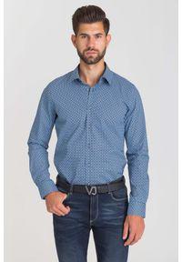 Niebieska koszula Joop! Collection na lato, casualowa, na co dzień