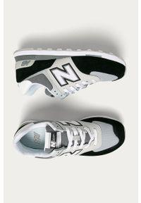 Szare sneakersy New Balance z cholewką, na sznurówki, z okrągłym noskiem #5