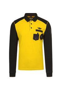 Żółta koszulka polo Aeronautica Militare polo, elegancka