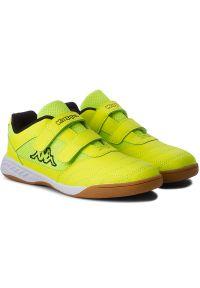 Kappa - Półbuty KAPPA - Kickoff K 260509K Yellow/Black 4011. Okazja: na spacer. Zapięcie: rzepy. Kolor: żółty. Materiał: skóra ekologiczna, materiał. Szerokość cholewki: normalna