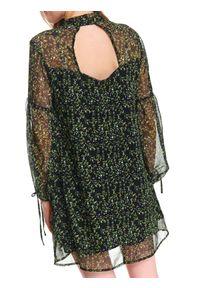 Zielona sukienka TOP SECRET wizytowa, z długim rękawem, na lato, na imprezę