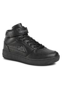 Czarne sneakersy Kappa z cholewką
