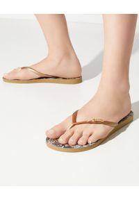 Camilla - CAMILLA - Damskie japonki Palace Playhous. Kolor: czarny. Materiał: materiał, guma. Wzór: paski. Sezon: lato