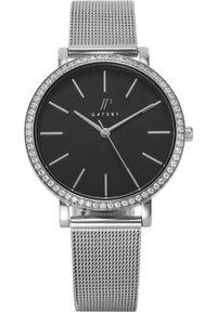 Zegarek Gatsby Damski srebrny mesh z cyrkoniami (JPG1047). Kolor: srebrny. Materiał: mesh