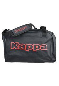 Czarna torba sportowa Kappa w kolorowe wzory