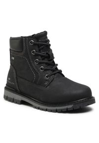 Czarne buty zimowe Tom Tailor z cholewką