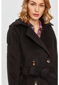 Answear Lab - Płaszcz z domieszką wełny. Okazja: na co dzień. Kolor: czarny. Materiał: wełna. Długość rękawa: raglanowy rękaw. Wzór: gładki. Styl: wakacyjny