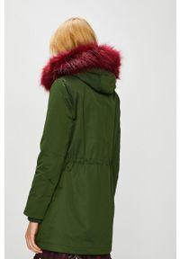 Zielony płaszcz medicine casualowy, na co dzień, z kapturem