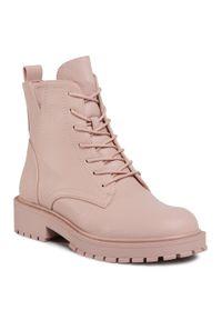 Betsy - Trapery BETSY - 908360/02-05G Pink. Okazja: na spacer. Kolor: różowy. Materiał: skóra, skóra ekologiczna. Szerokość cholewki: normalna
