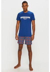 Niebieska piżama Henderson z nadrukiem