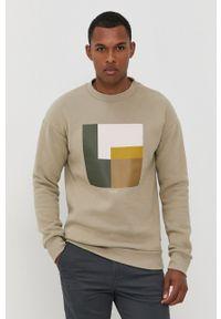 Premium by Jack&Jones - Bluza. Kolor: zielony. Materiał: dzianina. Wzór: nadruk