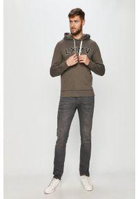 PRODUKT by Jack & Jones - Produkt by Jack & Jones - Bluza bawełniana. Okazja: na co dzień. Kolor: szary. Materiał: bawełna. Wzór: aplikacja. Styl: casual