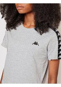 Kappa T-Shirt Inula 309090 Szary Regular Fit. Kolor: szary