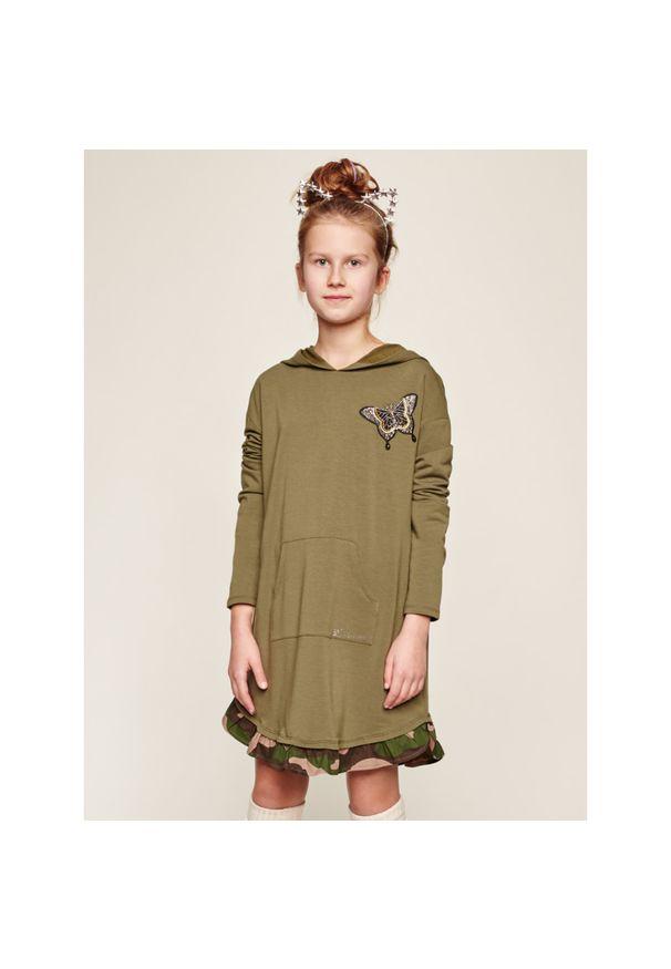 Zielona sukienka TwinSet casualowa, prosta