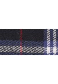 Niebieski szalik TOP SECRET elegancki, na zimę, w kolorowe wzory