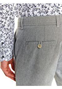 TOP SECRET - Spodnie długie męskie chino, slim. Okazja: na co dzień, do pracy. Kolor: szary. Długość: długie. Styl: elegancki, casual