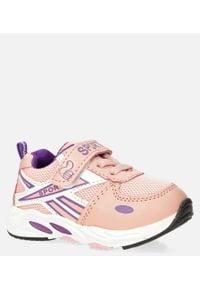 Casu - różowe buty sportowe na rzep casu 20p15/m. Zapięcie: rzepy. Kolor: różowy
