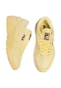 Żółte buty sportowe Fila