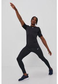 4f - 4F - T-shirt. Okazja: na co dzień. Kolor: czarny. Materiał: włókno, dzianina. Wzór: gładki. Styl: casual
