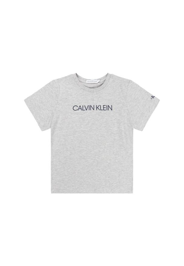 Szary t-shirt Calvin Klein Jeans