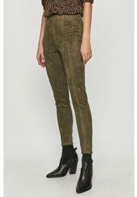 Zielone spodnie materiałowe only z podwyższonym stanem