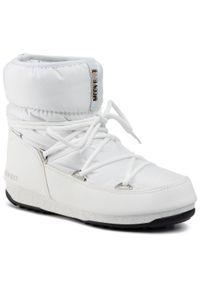 Białe śniegowce Moon Boot na zimę