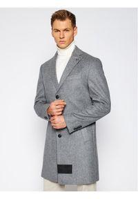 Szary płaszcz przejściowy Baldessarini