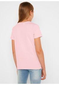 T-shirt dziewczęcy The Mandarlorian bonprix pastelowy jasnoróżowy. Kolor: różowy