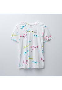 House - Koszulka z nadrukiem CTRL+ALT+DEL - Biały. Kolor: biały. Wzór: nadruk