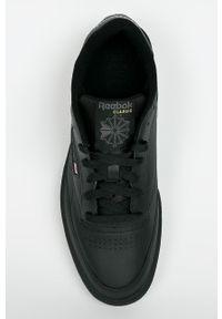 Czarne sneakersy Reebok Classic Reebok Classic, z okrągłym noskiem, z cholewką