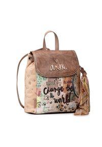 Anekke - Plecak ANEKKE - 30715-05JUS Beżowy. Kolor: beżowy. Materiał: skóra