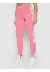 Adidas - adidas Legginsy adicolor Classics 3-Stripes H09422 Różowy Slim Fit. Kolor: różowy