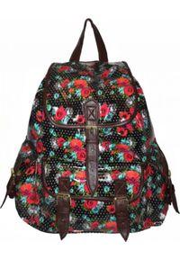 Adleys CB151 Róże LAKIEROWANY Plecak Wycieczkowy Szkolny Turystyczny Miejski Damski. Kolor: różowy. Materiał: lakier. Styl: wakacyjny