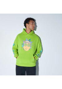 House - Bluza z kapturem Rick and Morty - Zielony. Typ kołnierza: kaptur. Kolor: zielony