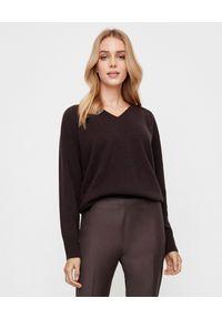 PESERICO - Brązowy sweter z jedwabiem i kaszmirem. Kolor: brązowy. Materiał: jedwab, kaszmir. Długość rękawa: długi rękaw. Długość: długie