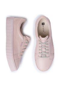 Nessi - Sneakersy NESSI - 17111 Róż 411. Okazja: na co dzień. Kolor: różowy. Materiał: skóra. Sezon: lato. Styl: elegancki, sportowy, casual