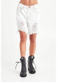 SPODENKI JEANSOWE ONETEASPOON. Stan: podwyższony. Materiał: jeans. Długość: krótkie. Sezon: lato. Styl: rockowy, klasyczny