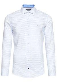 TOMMY HILFIGER - Tommy Hilfiger Koszula Bold Geo MW0MW16453 Biały Slim Fit. Kolor: biały